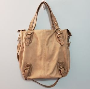 Handbags - Tan Purse with Gold Accents